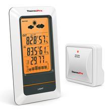 Thermopro TP67A充電式屋内屋外の温度計ワイヤレスウェザーステーションデジタルバロメーター湿度計湿度計