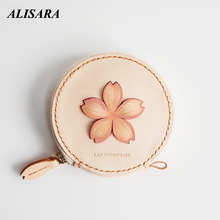Aat Coin Purse for women purely First layer cowhide Japanese handmade art wallet Coin purse gift for wife girlfriend very nice