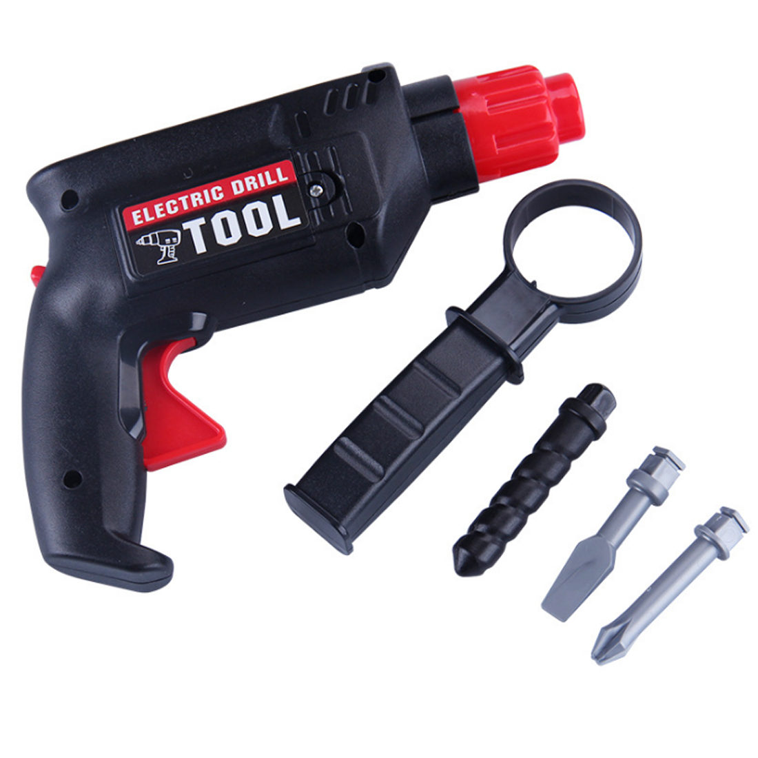 Children Plastic Simulation Maintenance Tool Repair Electric Drill Tool Early Development Education Toys For Children No Battery
