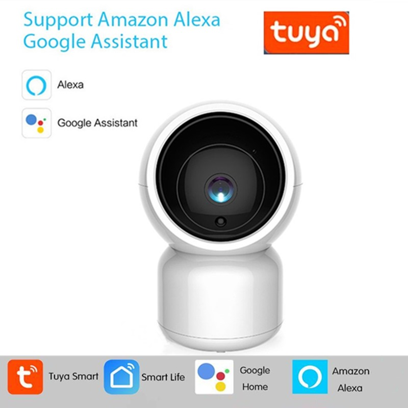 1080P Tuya WiFi IP Camera Alexa Google Home Camera Indoor PTZ Home Security Camera With Motion Auto Tracking For Baby Monitoring