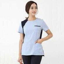 Korean Micro Plastic Medical Front Desk Nurse Work Clothes Beauty Salon Manicurist Physical Treatment Pants Suit