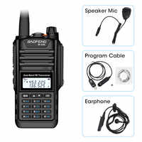 Baofeng BF-A58 Walkie Talkie IP68 Wasserdichte 128CH Dual Band UHF VHF Two Way Radio Handheld FM Transceiver CB Ham Radio station
