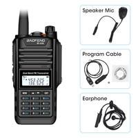 Baofeng BF A58 Walkie Talkie IP68 Waterproof 128CH Dual Band UHF VHF Two Way Radio Handheld FM Transceiver CB Ham Radio Station