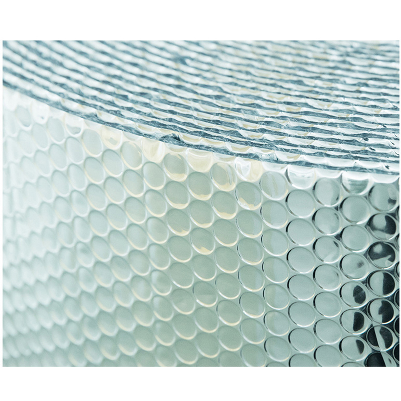 Three Layers Aluminum Foil Bubble Reflecting Film And Sunscreen Heat Insulation Foil For Building Roof And Room, 50sqm/roll