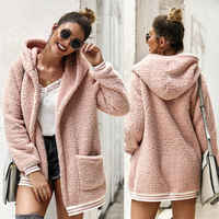 New 2019 Women's Winter Warm Coat Ladies Hooded Long Sleeve Fluffy Faux Fur Coat Plus Size