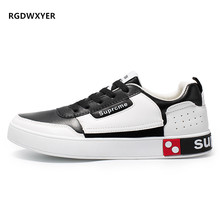 RGKWXYER New Men Casual Shoes Lace up Fashion Flat Comfortable Running Sports Student Small White Sneaker 2019