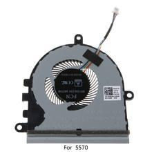 Substituído cpu cooler fan para dell inspiron 15 5570 5575 portátil ventilador de refrigeração transporte da gota