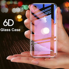 Tempered Glass Case For iPhone 11 X 7 , Protective Mobile Phone Cover Cases For iPhone 11 7 8 Plus 6 6s XS Max XR Capinhas Coque