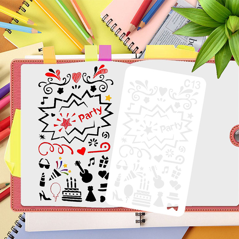 24 Styles New Design Pattern Layering Stencils For Wall Painting Scrapbook Coloring Embossing Album Paper Template Decorative
