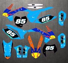 125 450 Exc 14 16 Sxf 13 15 Gratis Aangepaste Graphics & Achtergronden Stickers Kit Decal Voor ktm Excf 2014 2016/Sxf 2013   2015