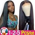 13x4 Spitze Front Menschliches Haar Perücken Pre-Gezupft Brasilianische Gerade Haar Spitze Frontal Perücken für Frauen Remy jarin Groß Verkauf 1-2 teile/los