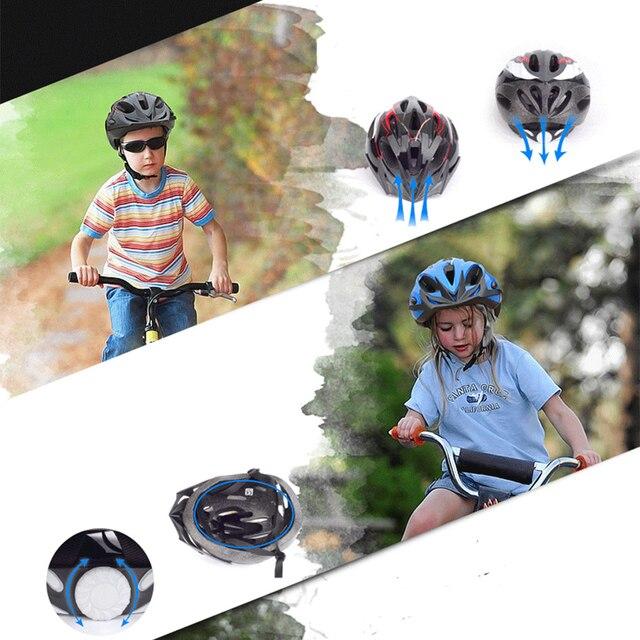 Lua criança equilíbrio capacete da bicicleta pc + eps respirável crianças ciclismo capacete de estrada montanha mtb capacete 260g tamanho m/l 6