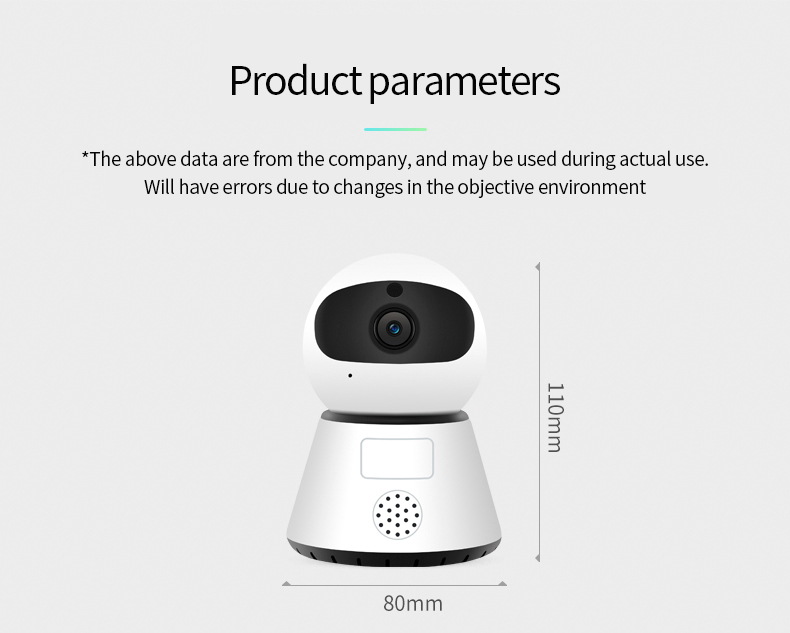 H098f9906e7294825ad6b740712c3b95b8 720/1080P PTZ Wireless Mini IP Camera Move Detection Infrared Night Vision Home Security Surveillance Wifi Camera Cloud Service