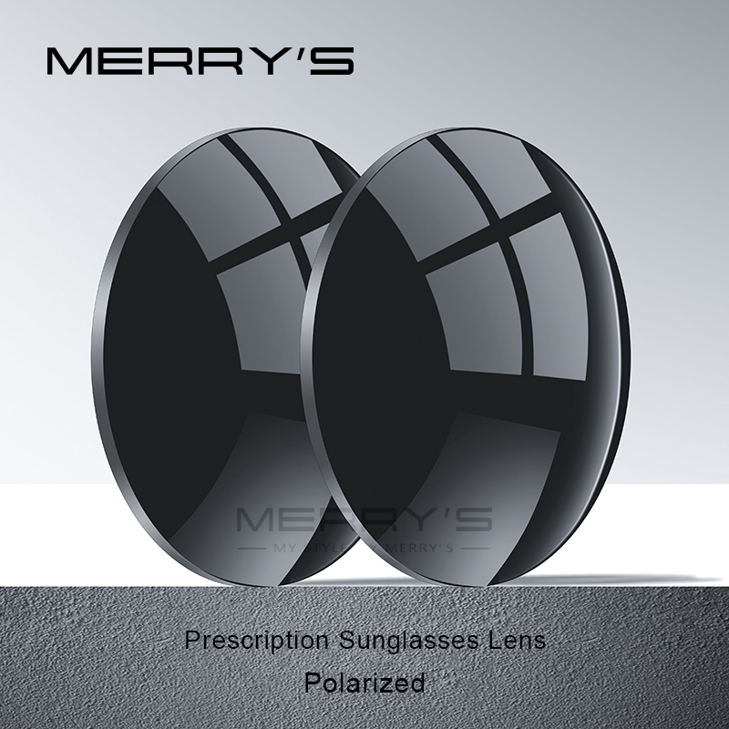 MERRYS Polarized P2 Series 1.56 1.61 1.67 Myopia Sunglasses Lens Prescription CR-39 Resin Aspheric Glasses Lenses UV400