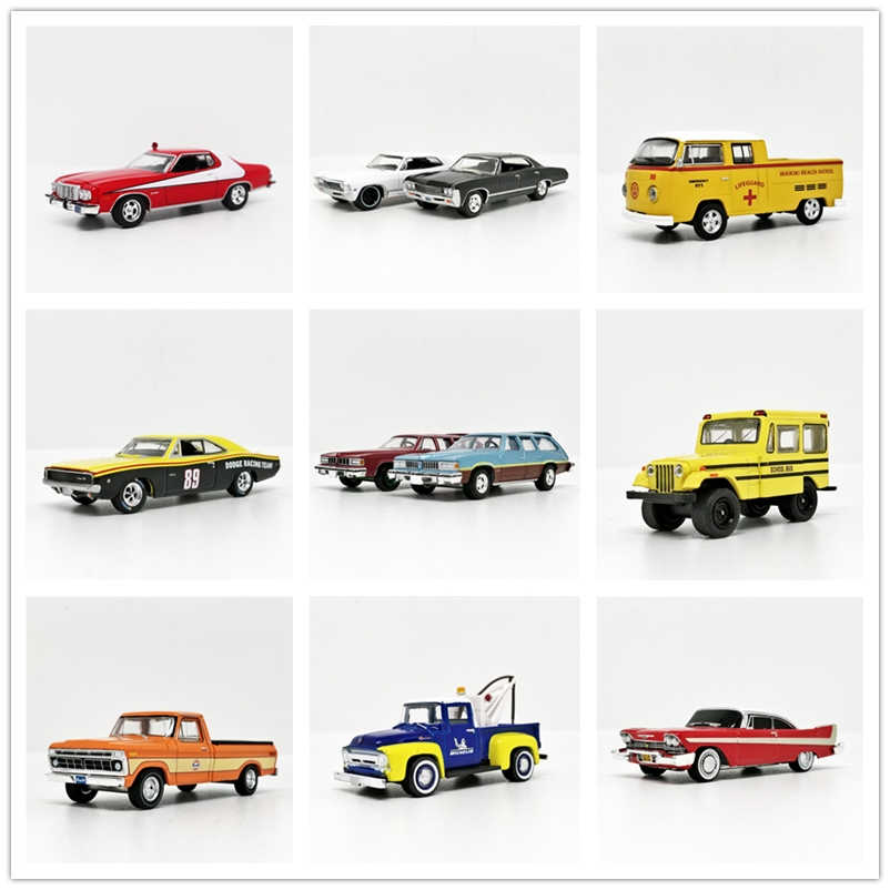Greenlight 1:64 Nissan Ford Mustang Plymouth Dodge Cadillac Chevrolet Impala Sport Sedan 1967 County Roads No Box