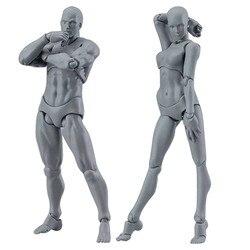 1 Набор для рисования фигурки для художников фигурку модель человека манекен для мужчин и женщин, набор, Двигающаяся игрушка фигура аниме фи...