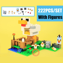 New MY World The Chicken Coop Fit Legoings Minecrafted Figures City Building Blocks Bricks Toy Birthday Kid Gift Christmas diy building blocks bricks my world compatible legoed minecrafted set steve alex reuben figures city toy for children