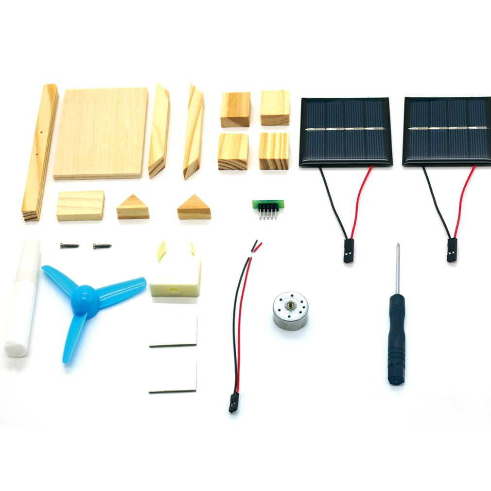 DIY Solar Fan Model Assemble Building Kits Science Experiment Creative Discovery Educational Toys for Children