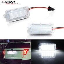 IJDM OEM-Fit 3W 6000K ксеноновый белый светодиодный светильник номерного знака для Ford Explorer ession Fusion светильник номерного знака, CAN-bus 12V