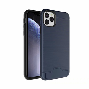 For iPhone 11 Pro Max Protective  Cover With Hidden Card Slot Media Stand Cell Phones Detachable Back Case Shockproof