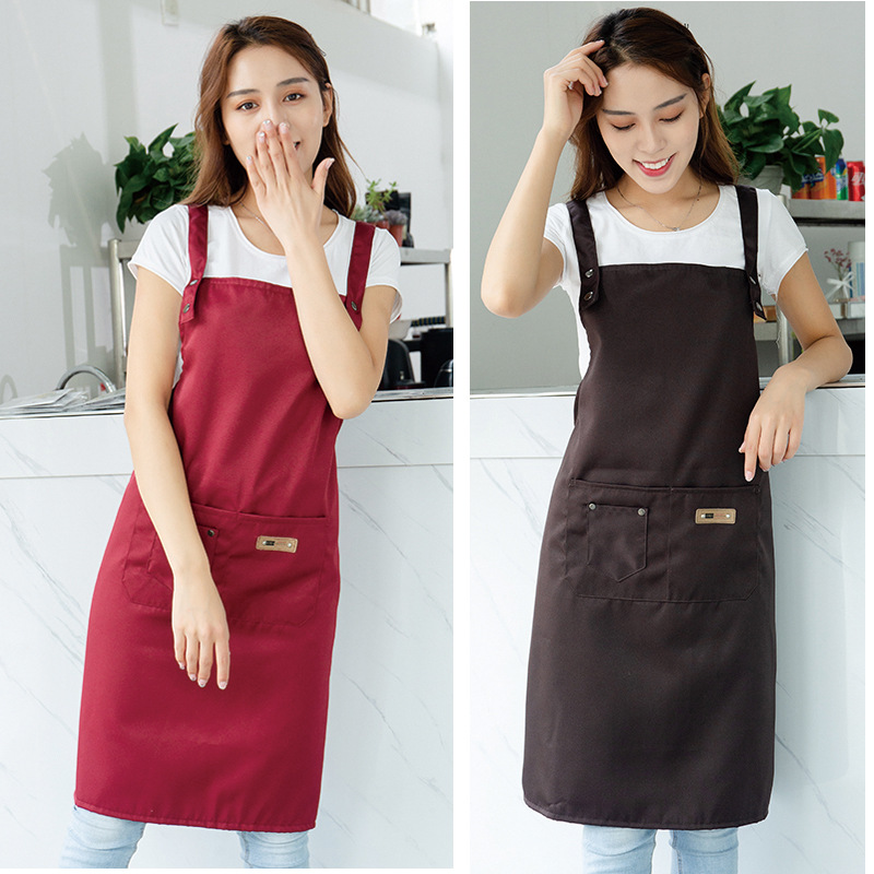 2 Style Cooking Kitchen Apron For Woman Men Chef Waiter Cafe Shop BBQ Hairdresser Aprons Bibs Kitchen Accessory Custom LOGO