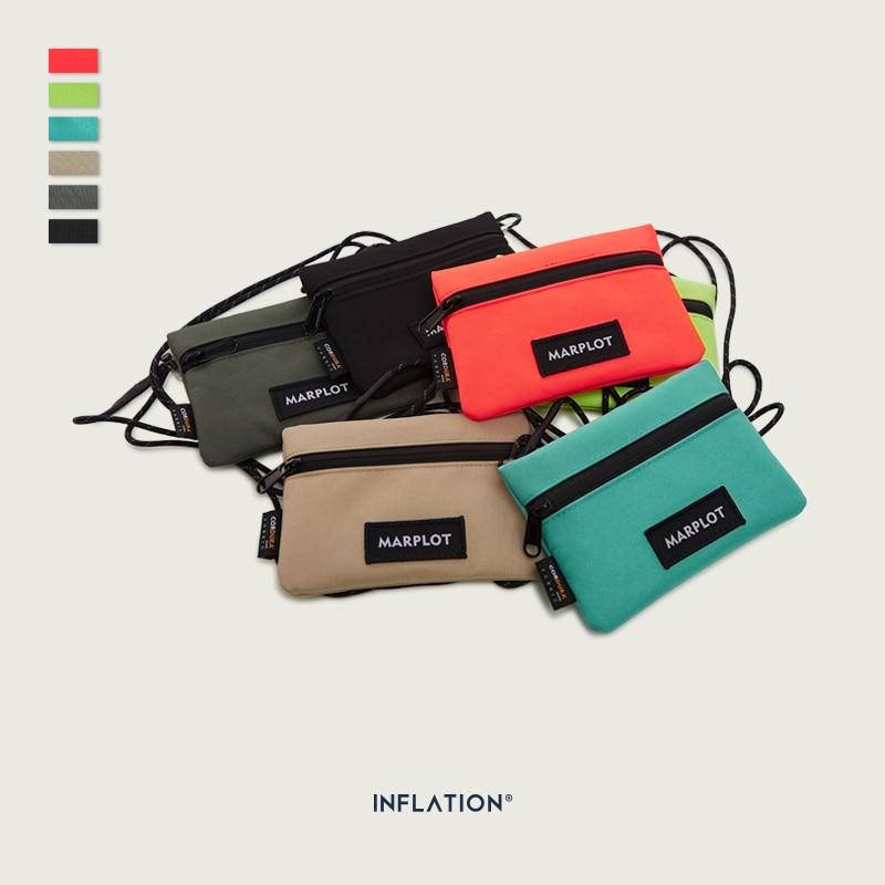 INFLATION Casual Print Mini Key Bag Money Pouch Men 2019 Streetwear Waist Bag Women Fashion Travel Crossbody Phone Bag 237AI2019