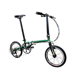 Image 3 - Fnhon FCG1609 Faltrad 16 zoll Minivelo CR MO Stahl V Bremse 9Speed Urban Pendler Fahrrad Für Shimano Shift Retro freizeit BMX