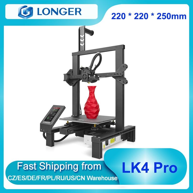 Предварительная сборка FDM 3D-принтера LONGER LK4 Pro 90%, 220x220x250 мм с TMC2208, бесшумный детектор филаментов с драйверами, возобновление печати