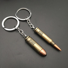 New PUBG Bullet Key chain Player Unknown Battlefield Bar Fashion Accessory Keychains Model Male Pendant Gift Ring