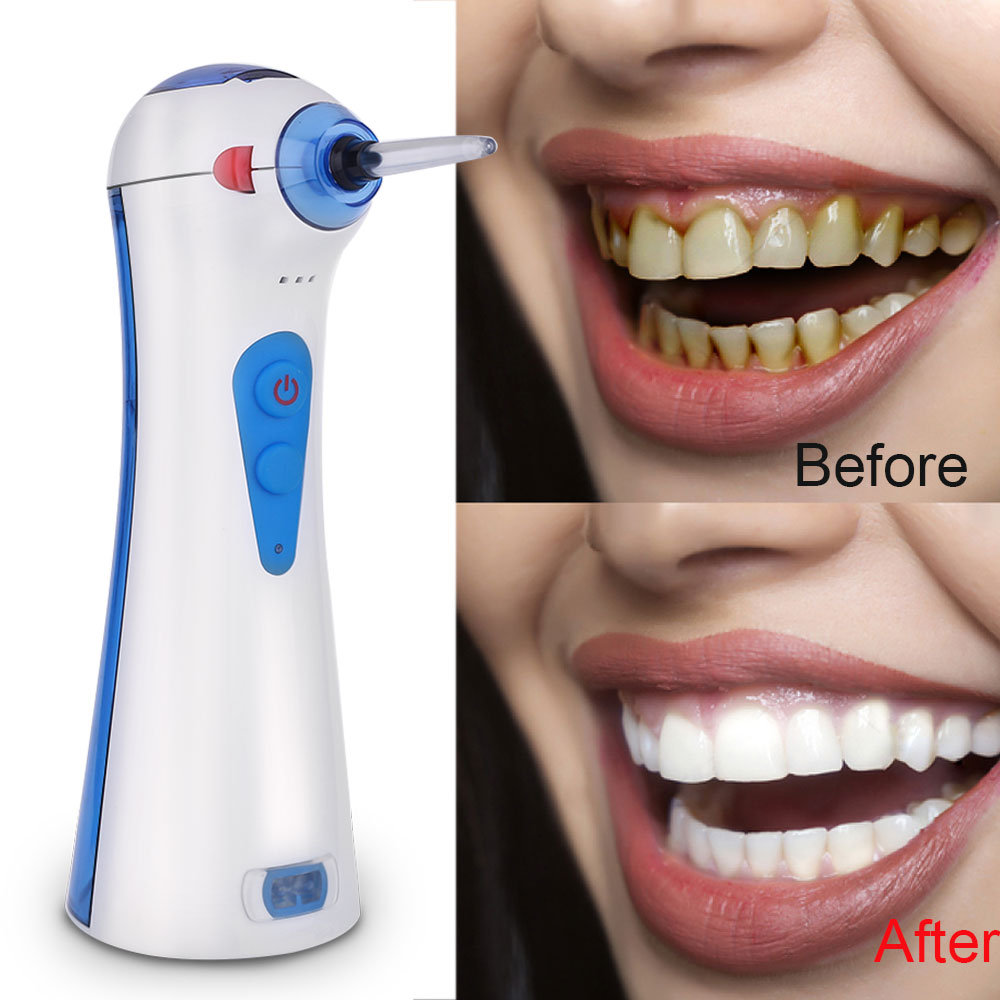 Portable Teeth Cleaning Machine Oral Irrigator Water Dental Powered Floss Water Jet Toothbrush Dental Brush Tooth SPA image