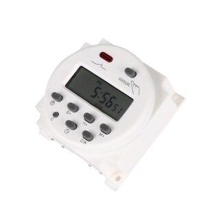 Digital lcd power timer ac 12 v 24 v 220 v 240 v semanal 7 dias programável interruptor de tempo relé 8a a 16a temporizador 10a cn101 mini