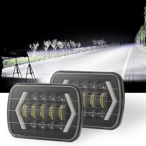 Image 2 - Per Jeep Wrangler 300W 7 Pollici Combo Ha Condotto La Luce Bar Spot Flood Fascio Offroad Car Quadrato HA CONDOTTO LA Luce del Lavoro impermeabile Della Luce di Nebbia