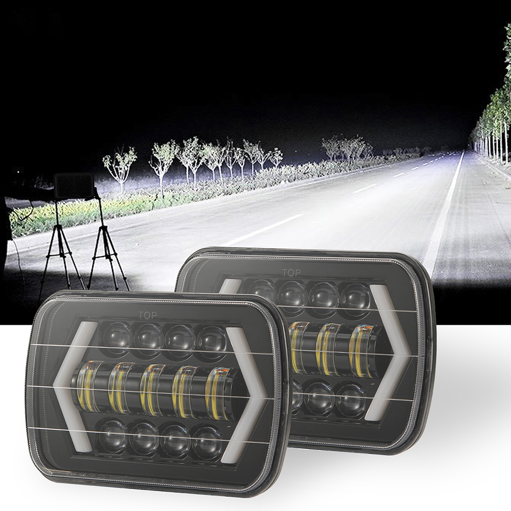 Image 2 - for Jeep Wrangler 300W 7 Inch Combo Led Light Bars Spot Flood Beam  Offroad Car Square LED Work Light Waterproof Fog Light-in Car Fog Lamp from Automobiles & Motorcycles