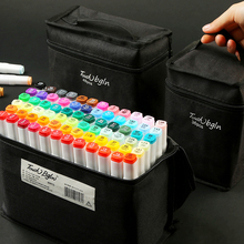 цены Marker pen brush set touch genuine student with double head 80/40/60 color student alcohol markers color pen  comic art supplies