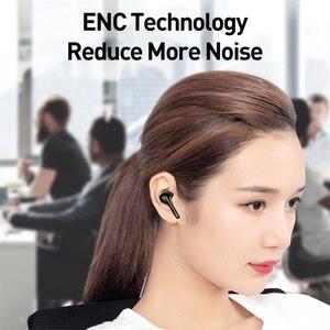 Image 5 - Baseus W07 TWS Wireless Bluetooth Earphone V5.0 Wireless Sport Earphone ENC Reduce Noise Talking Waterproof Wireless Earphones