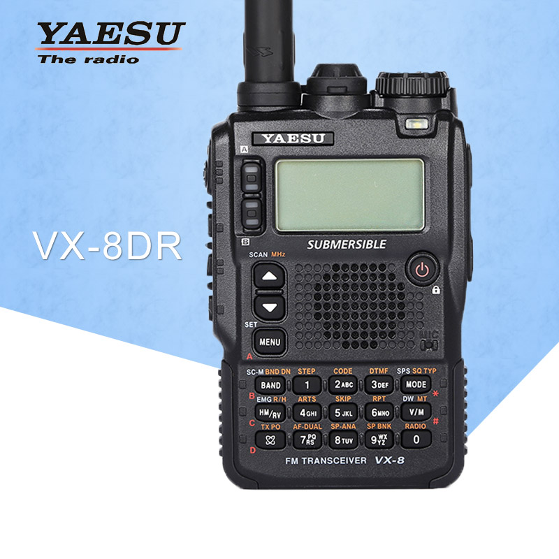 General Walkie Talkie Yaesu VX-8DR Three-Band Waterproof Handheld FM Ham Two-Way Radio Transceiver