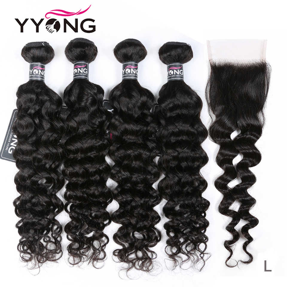 Design for Winter Brazilian Milan Wave Bundles With Closure 3 / 4 Remy Human Hair Weave Bundles With Lace Closure Middle Ratio