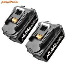Аккумуляторные батареи powtree bl1860 18 в 6000 мАч литий ионная