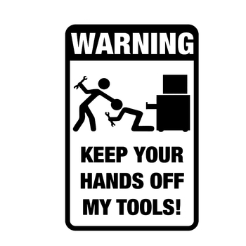 Dawasaru Tool Box Warning Sticker Funny Prank Graphic Car Stickers Auto Motorcycle Truck Decals Decoration Graphic PVC,18cm*11cm dawasaru warning stickers handicapped symbol car stickers waterproof sunscreen decals motorcycle auto car styling pvc 11cm 10cm
