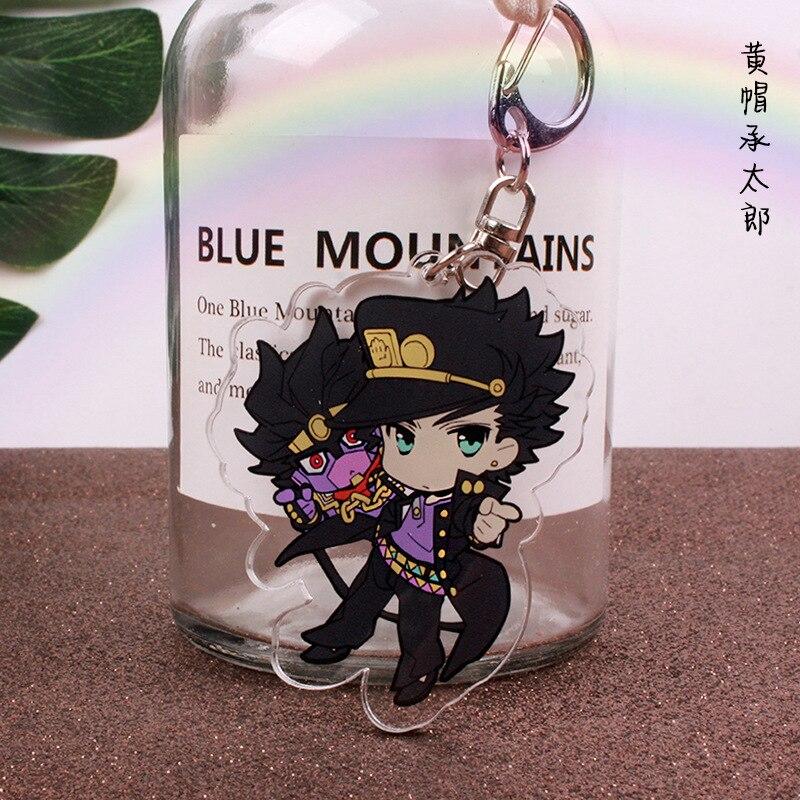 Anime Jojos Bizarre Adventure Keychain Cartoon Figure Acrylic Cute Keychain Collection Gifts 2020