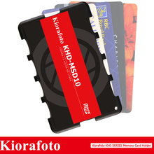 Kiorafoto Camera Accessories Memory Card Holder SD/MSD/Micro SD/TF Protector for Canon 1300d/Nikon D5300/Sony A6000 Lightweight
