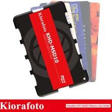 Kiorafoto akcesoria do aparatu uchwyt na kartę pamięci SD/MSD/Micro SD/TF Protector do Canon 1300d/Nikon D5300/Sony A6000 lekki