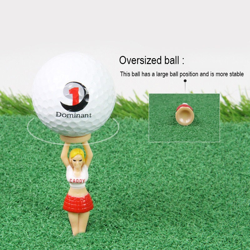 3pcs/set Plastic Golf Balls Tee Cushion Lovely Sexy Bikini Lady Gift Plastic Tees Golf Tools