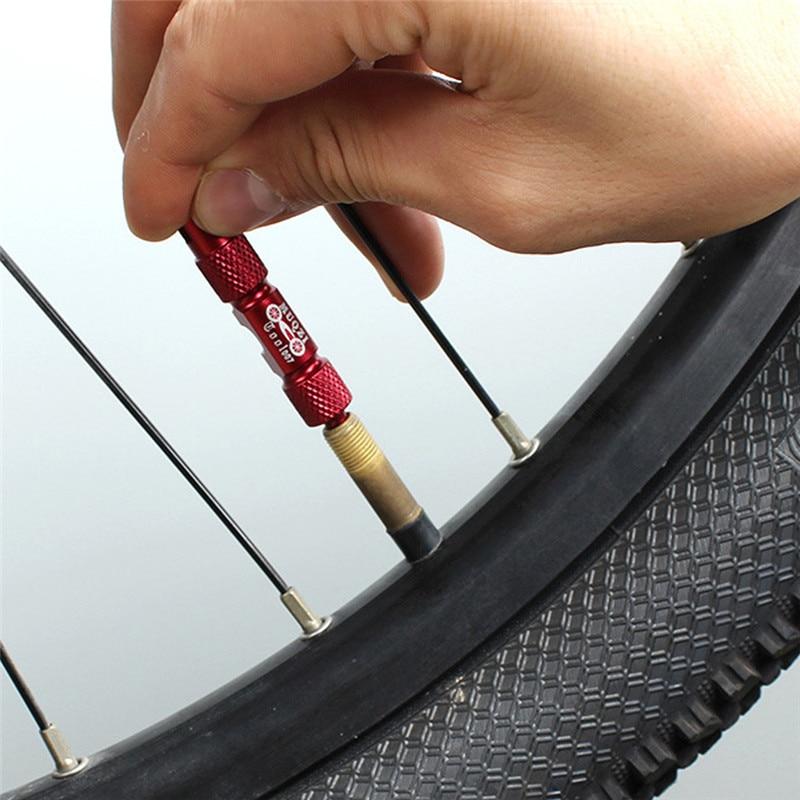 Bicycle Valve Remove Tools Multi-Function Aluminum Bike Tube Tire Valve Core Removal Tools Valve Core Multifunction Tool