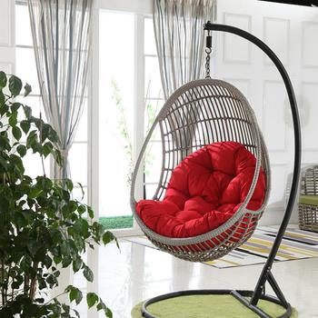 Egg Swing Seat Cushion Hanging Basket Cushion Thicken Hanging Chair Seat Pad Patio Living Rooms Rocking Chair Cushion no Chair