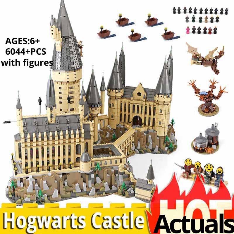 6044 piezas HarryINGLYS Magic Castle escuela Compatible con Legoinglys 71043 bloques de construcción de casas ladrillos juguetes de Navidad