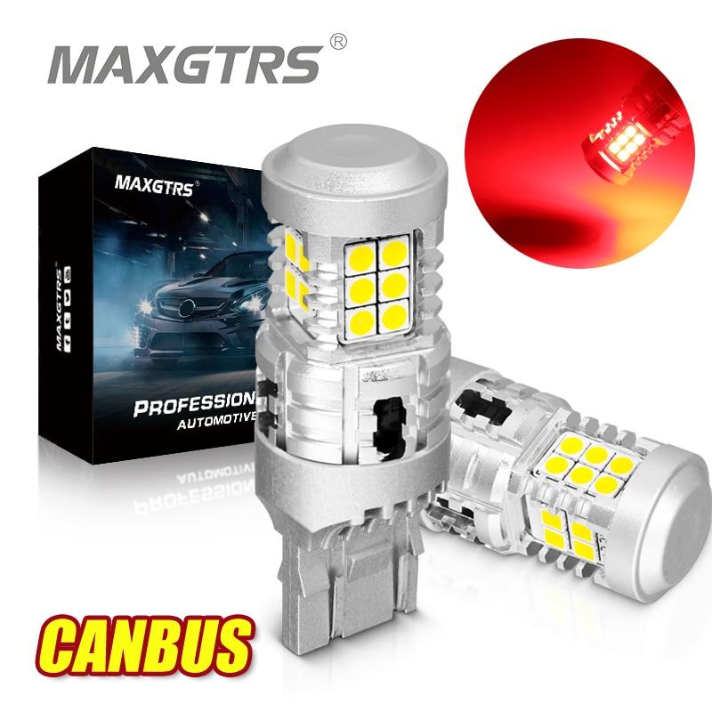 2x CANBUS BAY15D P21/5 Вт 1157 7443 W21/5 Вт 3030 3157 светодиодный лампы Белый Красный стоп Тай поворотов нет ошибок нет Hyper Flash светильник фонарь стоп-сигнала