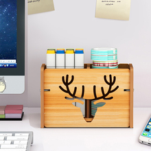 New Wood Pencil Holder For Desk Kids Pen Pencil Organizer Storage With 3 Adjustable Compartment Multi Use Stationery Case Home