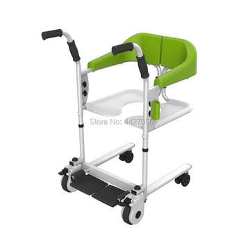 2019 Free shipping   disabled  with toilet seat shower chair commode chair  moving  wheelchair