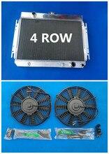 4 reihe Aluminium Heizkörper & Fans 1963-1968 Für CHEVY CHEVELLE/IMPALA V8 El Camino 1964 1965 1966 1967 hohe Leistung